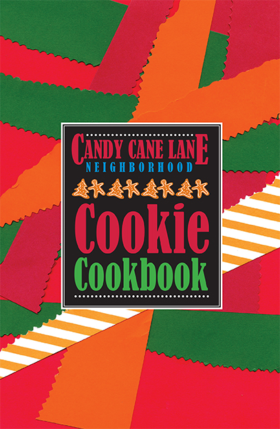 cover of the Candy Cane Lane Neighborhood Cookie Cookbook