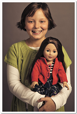 Maggie with doll
