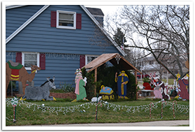 manger scene yard decoration