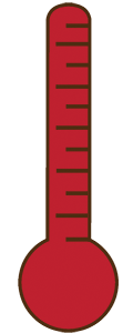 thermometer graphic to show donation level